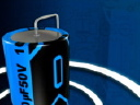Royalty Free Video of a Battery