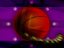 Royalty Free Video of a Turning Basketball