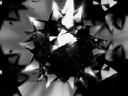 Royalty Free Video of a Spinning Monochrome Kaleidoscopic Design