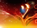 Royalty Free Video of a Heart and Flourish Design
