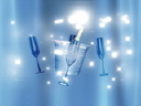 Royalty Free Video of a Champagne Bucket and Glasses
