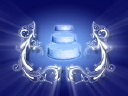 Royalty Free Video of a Revolving Wedding Cake Between Flourishes