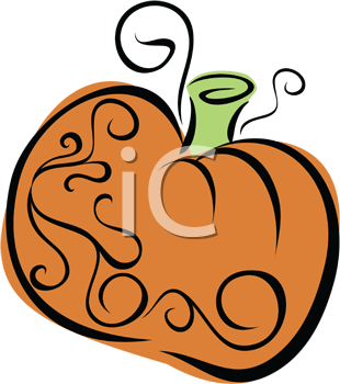 Royalty Free Clipart Image of a Pumpkin