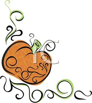 Royalty Free Clipart Image of a Pumpkin Design