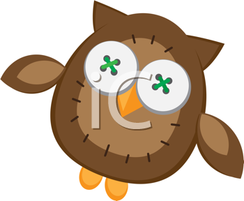 Royalty Free Clipart Image of a Stuffed Owl