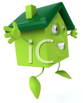 Royalty Free 3d Clipart Image of a House