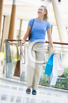 Royalty Free Photo of a Woman at a Shopping Mall