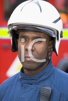 Royalty Free Photo of a Firefighter