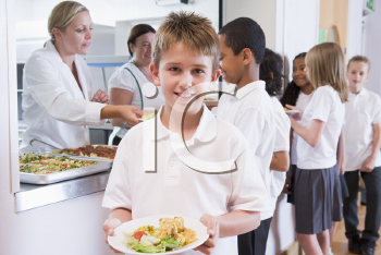 Royalty Free Photo of Children in a Cafeteria