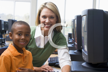 Royalty Free Photo of a Teacher With a Student