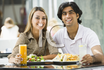 Royalty Free Photo of a Couple at a Restaurant