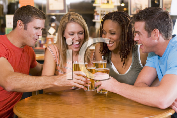 Royalty Free Photo of Two Couples Drinking