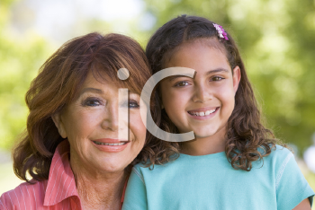 Royalty Free Photo of a Woman and Her Granddaughter