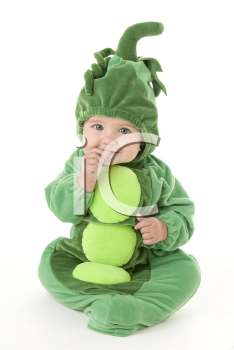 Baby in peas in pod costume