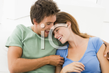 Royalty Free Photo of a Happy Couple at Home