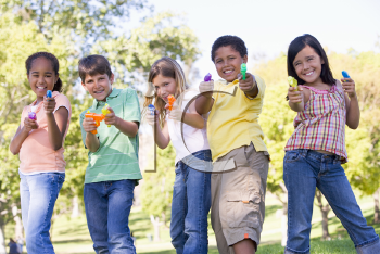 Royalty Free Photo of Children With Water Guns