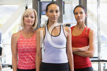 Royalty Free Photo of Women at a Gym