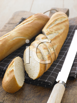 Royalty Free Photo of a Sliced Baguette