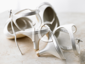 Royalty Free Photo of Silver High Heels