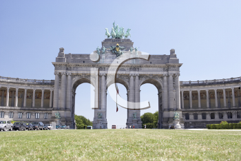 Royalty Free Photo of an Arch in Brussels Belgium