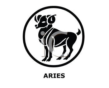 Royalty Free Clipart Image of an Aries Symbol