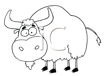 Royalty Free Clipart Image of a Yak