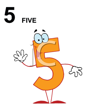 Royalty Free Clipart Image of a Five