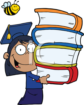 Royalty Free Clipart Image of an African American Graduate Students