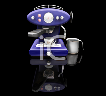 Royalty Free Clipart Image of a Coffee Machine