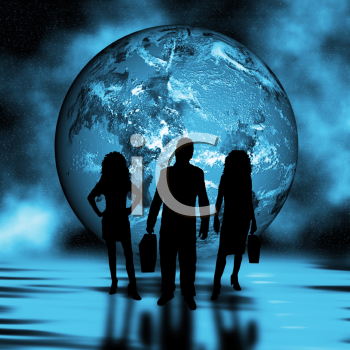 Abstract background depicting world trading