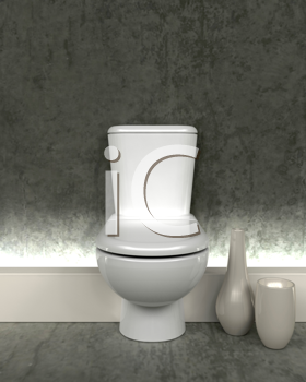 3d render of a contemporary toilet