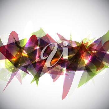 Abstract design background with shapes and glowing lights
