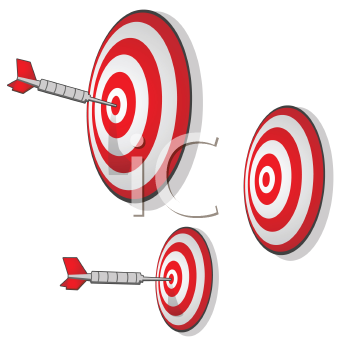 Royalty Free Clipart Image of Dartboards