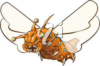 The very popular yet widely unheard of orange bug maggot jester alien, from outer imagination. He has wings like a pretty butterfly.