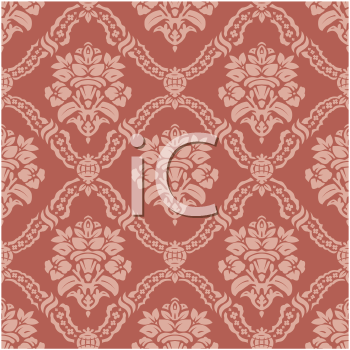Royalty Free Clipart Image of a Floral Wallpaper