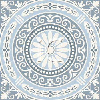 Royalty Free Clipart Image of a Floral Mosaic