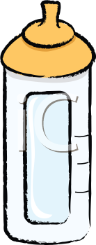 Royalty Free Clipart Image of a Baby Bottle