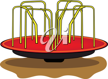 Royalty Free Clipart Image of a Merry-Go-Round