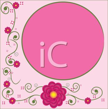 Royalty Free Clipart Image of a Peony Floral Background