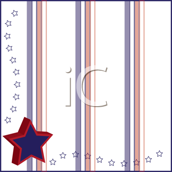 Royalty Free Clipart Image of a Star Border