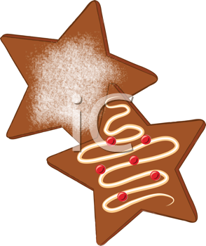 Royalty Free Clipart Image of Star Cookies