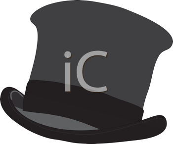 Royalty Free Clipart Image of a Tophat