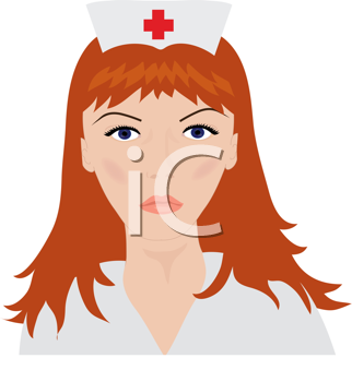 Royalty Free Clipart Image of a Nurse