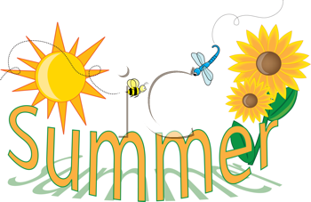 Royalty Free Clipart Image of a Summer Sign