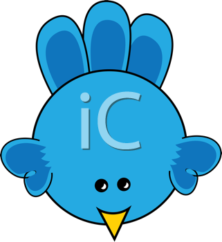 Royalty Free Clipart Image of a Cartoon Chick