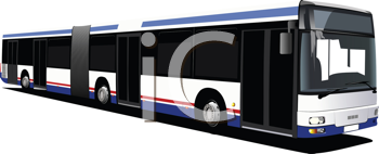 Royalty Free Clipart Image of a City Bus