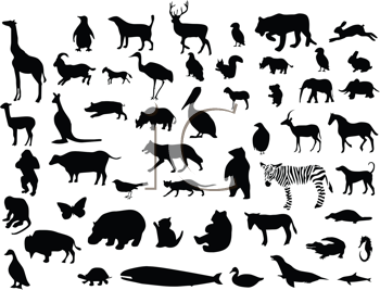 Royalty Free Clipart Image of An Silhouettes