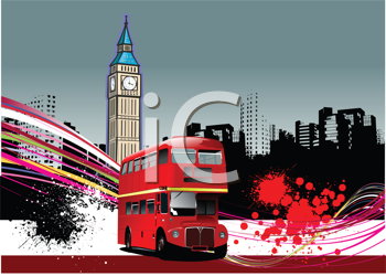 Royalty Free Clipart Image of a Grunge London Background
