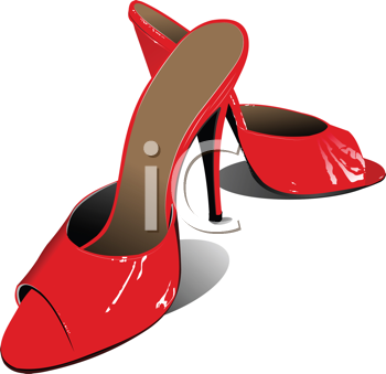 Royalty Free Clipart Image of High Heeled Shoes