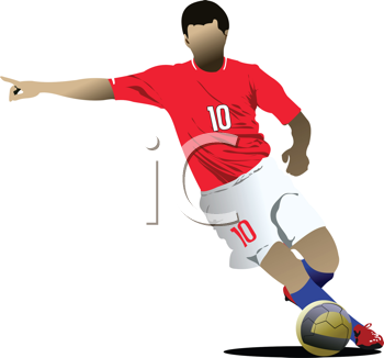 Royalty Free Clipart Image of the Number 10 Soccer Player
